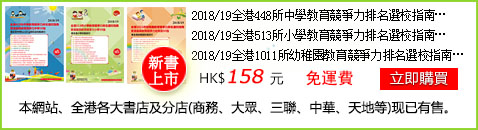 2018香港最具教育競爭力中學/小學/幼稚園排名指南